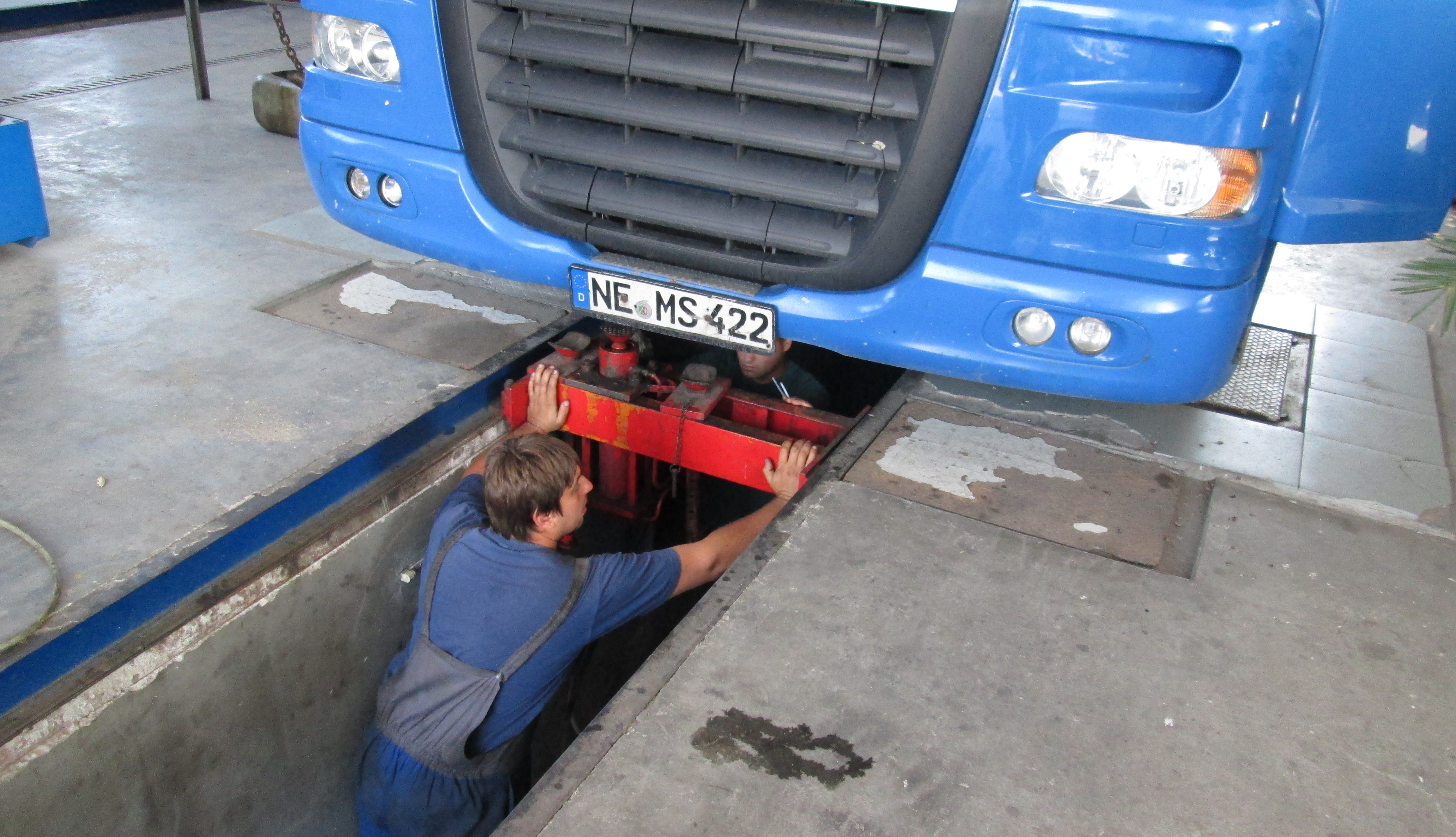 Тресачка и диагностика на камион DAF XF